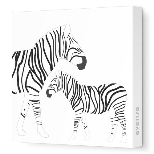 Avalisa Animals Zebra Stretched Canvas Art