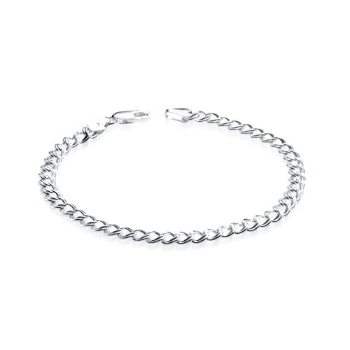 Italian Sterling Silver Parallelo Rope Style Bracelet