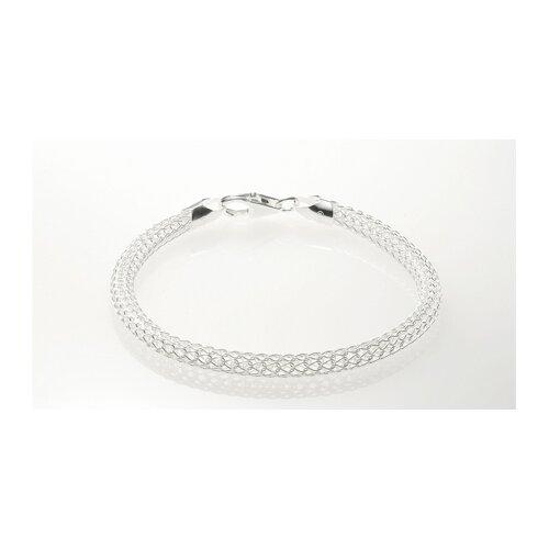 Oravo Italian Sterling Silver Tessuto Rado Style Bracelet
