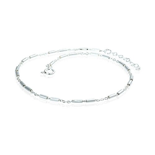 Oravo Chain and Bar Link Adjustable Anklet Sterling Silver