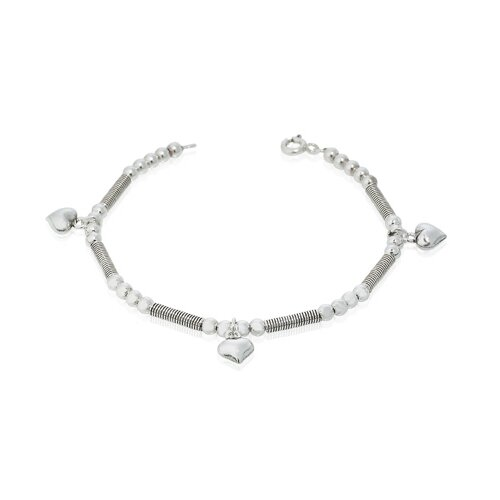 Oravo Spring Bar and Ball Link Charm Bracelet Oxidized Sterling Silver