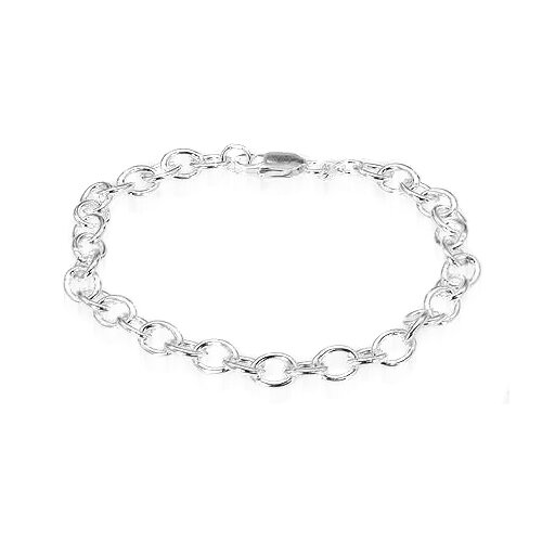 Oravo Thick Round Cable Chain Bracelet Sterling Silver