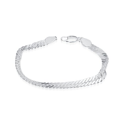 Oravo Designer Curb Chain Bracelet Sterling Silver