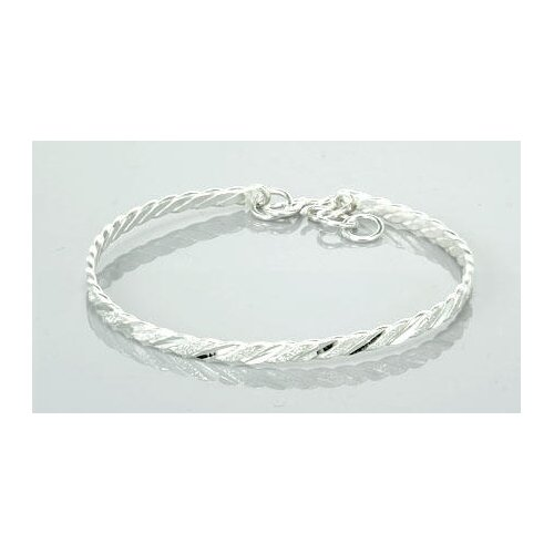 Laser Cut Knot Style Bangle Bracelet Sterling Silver