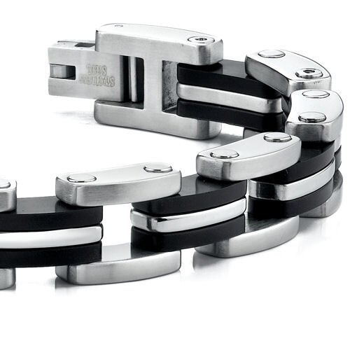Oravo Thick and Extra Wide Mens Stainless Steel Bracelet