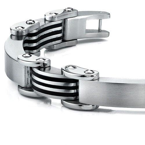 Oravo European Style Rugged Mens Stainless Steel Bracelet