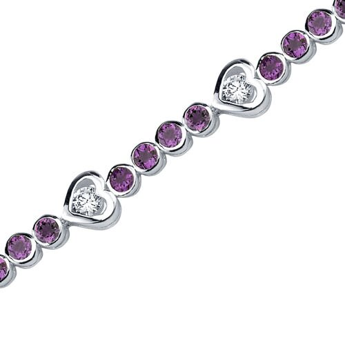 Oravo Dazzling Fascination Round Shaped Gemstone Bracelet in Sterling Silver