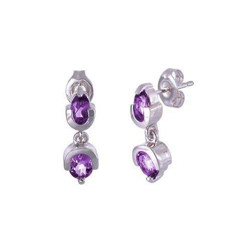 Oval Cut Gemstone Drop Earrings Sterling Silver