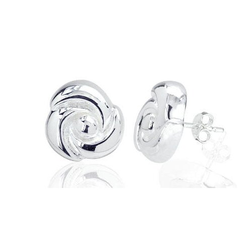 Flower Puff Earrings in Sterling Silver