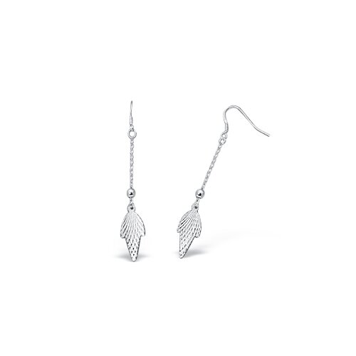 Oravo Unique Dangling Stiletto Earrings in Sterling Silver