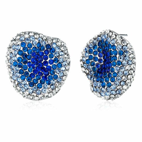 New Wave Sapphire and Blue Zircon Earrings with Swarovski Elements