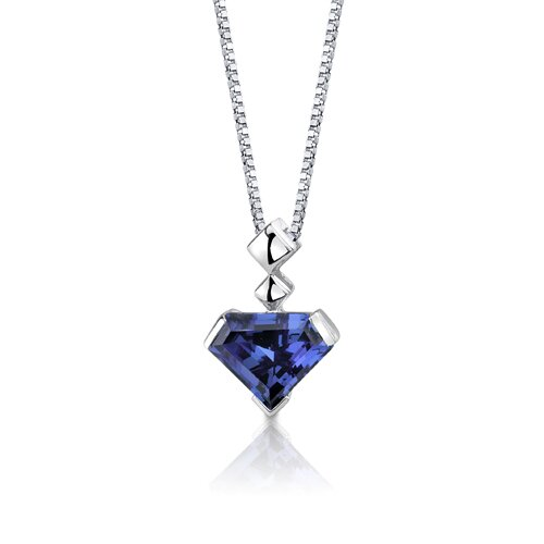 Oravo Superman Cut 6.25 Carats Alexandrite Pendant in Sterling Silver