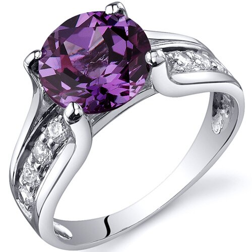 Oravo Solitaire Style  2.75 Carats Ring in Sterling Silver