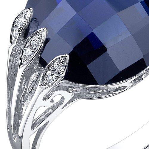 Oravo Intricate 7.00 Carats Double Checkerboard Cut Ring in Sterling Silver