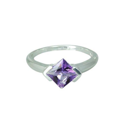 Oravo 1.50 carat Princess Cut Amethyst Ring in Sterling Silver