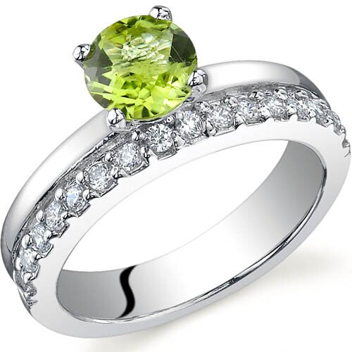 Sleek and Sparkling 0.75 carats Ring in Sterling Silver