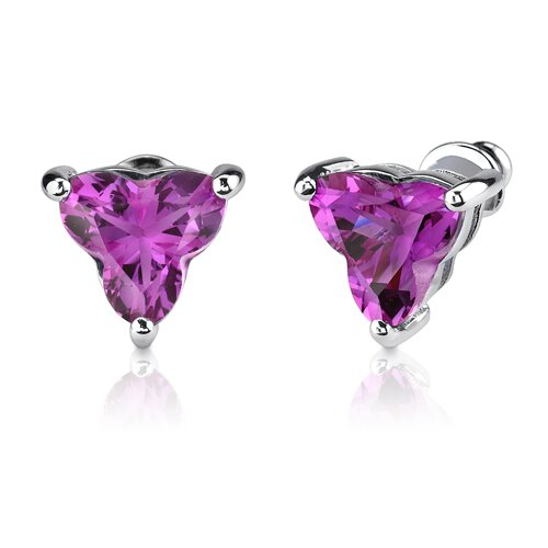 Oravo Ultimate Splendor Tri Flower Cut Pendant Earring Set in Sterling Silver