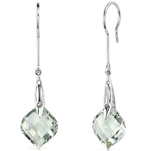 Onion Cut Gemstone Dangle Earrings