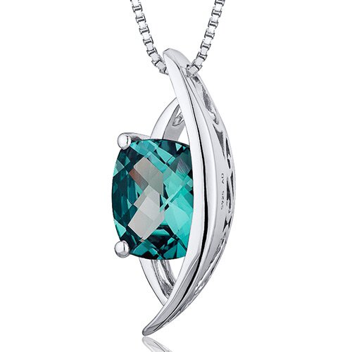 Radiant Cut Gemstone Intricate Pendant