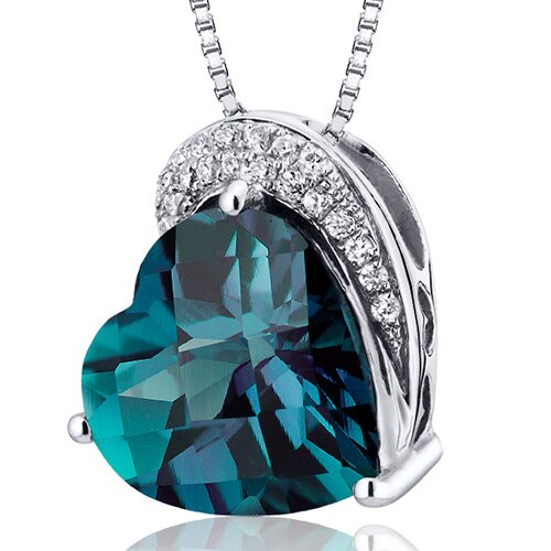 Oravo Heart Cut Gemstone Tilted Pendant