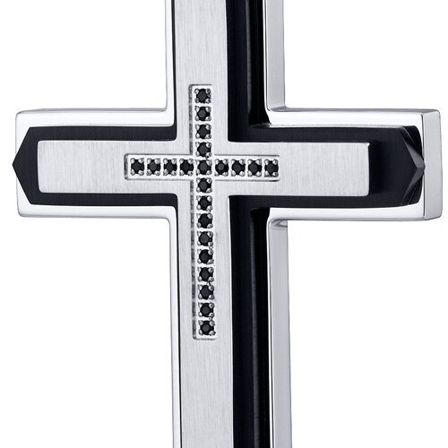 Oravo Ball Chain Cross Cubic Zirconia Pendant