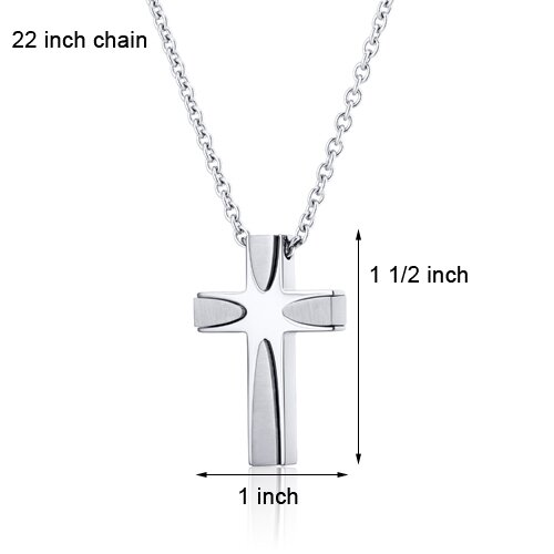 Oravo Artistic Two Tone Stainless Steel Cross Pendant