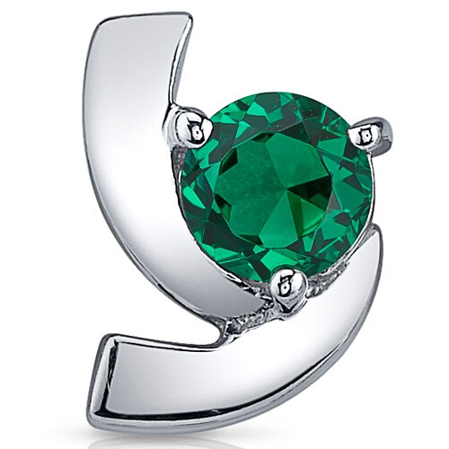 Oravo Illuminating 1.50 Carats Round Cut Emerald Earrings