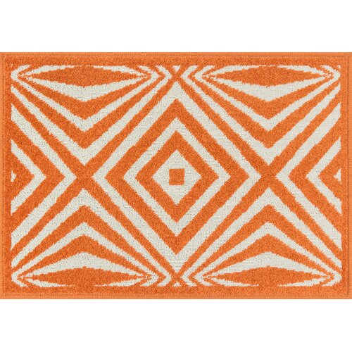 Terrace Ivory/Orange Outdoor Rug