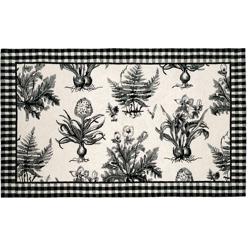 123 Creations Floral Botanical Hook Rug