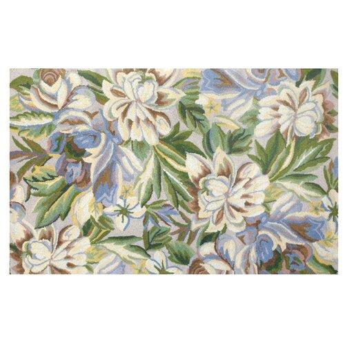 Floral Magnolia Blue Hook Rug