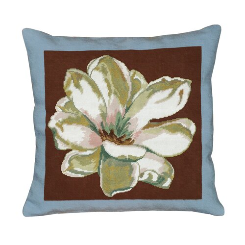 123 Creations Magnolia Square Needlepoint Pillow
