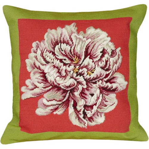123 Creations Peony Needlepoint Pillow