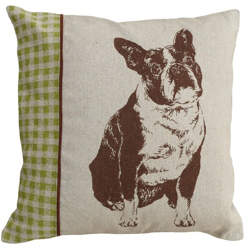 123 Creations Boston Terrier 100% Linen Screen Print Pillow
