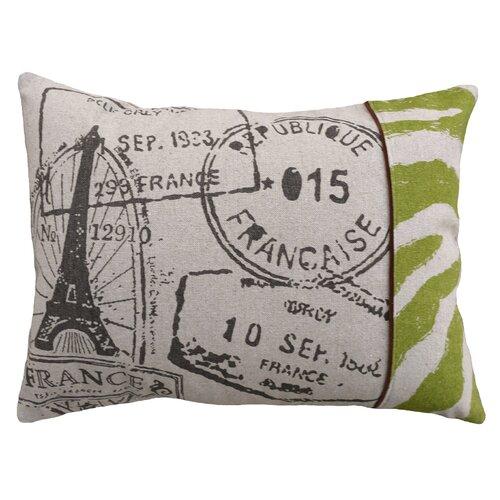 Stamps 100% Linen Screen Print Pillow