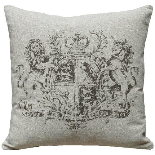 Crest 100% Linen Screen Print Pillow