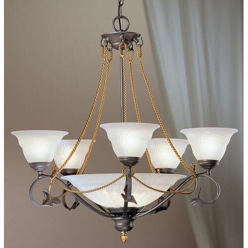 Classic Lighting Verona 8 Light Chandelier