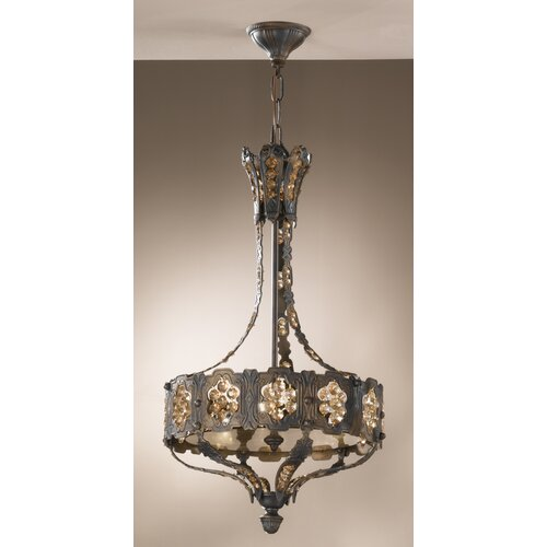 Classic Lighting Castillio de Bronce 3 Light Foyer Pendant