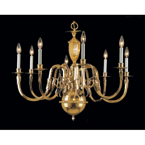 Classic Lighting Hampton 8 Light Chandelier