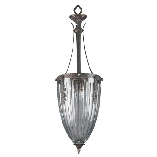 Classic Lighting Warsaw 4 Light Foyer Inverted Pendant