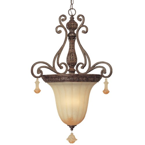 Riviera 3 Light Inverted Pendant