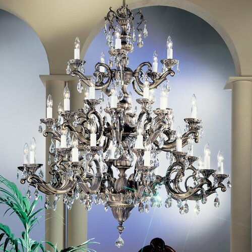 Classic Lighting Princeton II 40 Light Chandelier