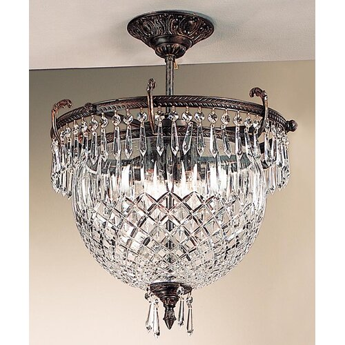 Classic Lighting Waterbury 3 Light Semi-Flush Mount