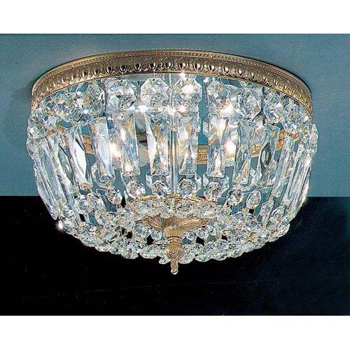 Classic Lighting Crystal Baskets Light Semi Flush Mount Amp Reviews Wayfair