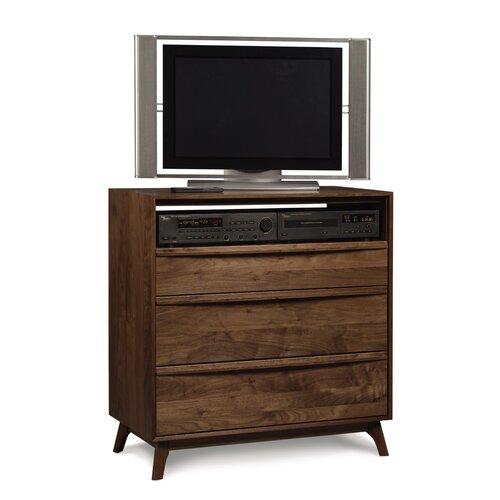 Copeland Furniture Catalina 3 Drawer Chest and Media Organizer