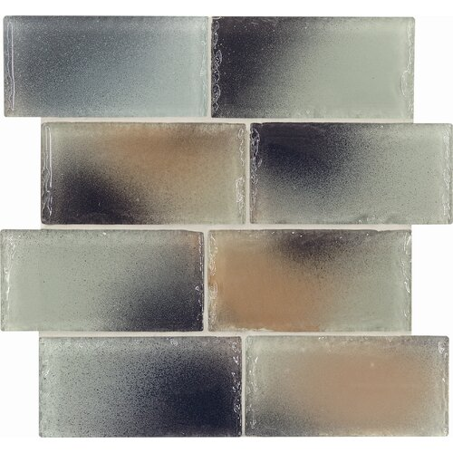 Casa Italia Fashion Glass Tile in Mix Fashion Beige