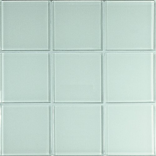 Crystal-A Glass Mosaic in Glossy White