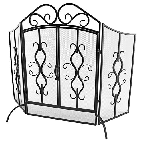 Jameson 3 Panel Metal Fireplace Screen