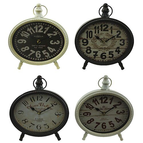 Maddie 4 Piece Table Clock Set