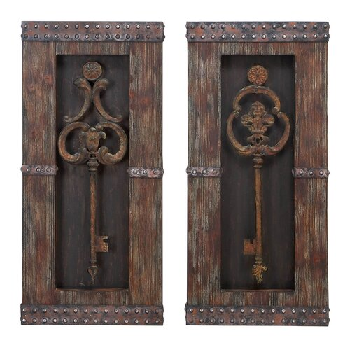 Aspire 2 Piece Key Wall Décor Set