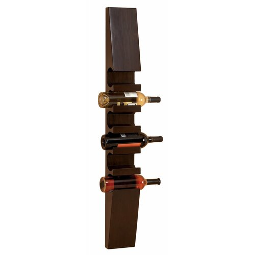 Contemporary 6 Bottle Wall Mounted Wine Rack